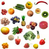 Mixture of fruit and vegetables Stock Photo