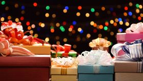 Mixture of gift boxes Royalty Free Stock Photo