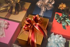 Mixture of gift boxes Stock Image