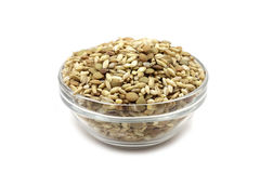 A mixture of grains in a glass container Royalty Free Stock Image