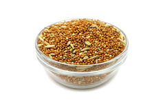 A mixture of grains in a glass Royalty Free Stock Images