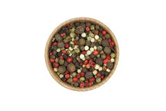 A mixture of grains of pepper Stock Photography