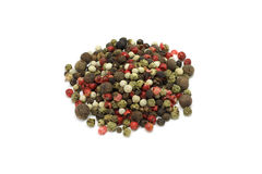 a mixture of grains of pepper Royalty Free Stock Photo