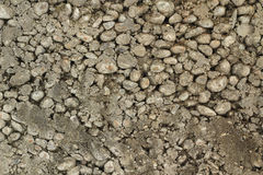 Mixture of gravel and concrete  background Royalty Free Stock Photo