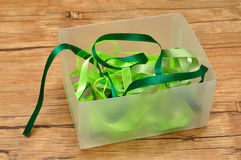 A mixture of green ribbons Stock Images