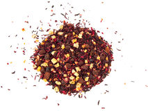 Mixture herbal floral fruit tea with petals, dry berries and fruits. Texsture Royalty Free Stock Photos