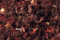 Mixture herbal floral fruit tea with petals, dry berries and fruits. Texsture. Royalty Free Stock Photos