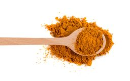 Mixture of Indian Spices and Herbs Powders Isolated stock photos