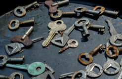 Mixture of keys Stock Photos