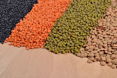 Mixture of lentils and beans Stock Photography