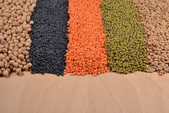 Mixture of lentils and beans Royalty Free Stock Photo