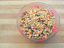 Mixture of lentils in bowl Royalty Free Stock Photo