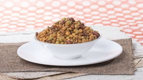 Mixture Namkeen. Indian Salty Food Mixture Namkeen royalty free stock image