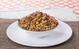 Mixture Namkeen. Indian Salty Food Mixture Namkeen royalty free stock photography
