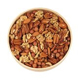 A mixture of nuts Royalty Free Stock Images