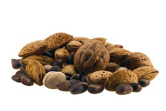 Mixture of nuts Royalty Free Stock Photo
