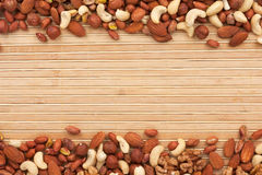 Mixture of nuts Royalty Free Stock Photos