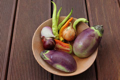 Mixture of organic vegetables Stock Photography