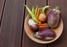 Mixture of organic vegetables Stock Photo