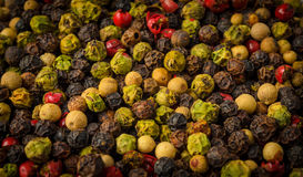 Mixture of pepper of different colors Royalty Free Stock Photo