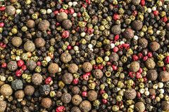 Mixture pepper polka dots. Close-up background royalty free stock image