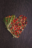 A mixture of peppers ( red, white, black ) Stock Images