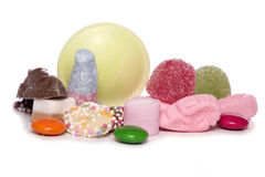 Mixture of pick and mix sweets cutout Royalty Free Stock Images