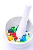 Mixture of pills Royalty Free Stock Image