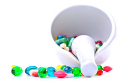 Mixture of pills Stock Images