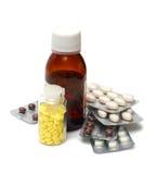 Mixture and pills close-up Stock Image