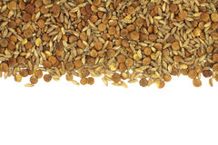 A mixture of raw grain cereals and cereal background Stock Image