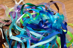 A mixture of ribbons royalty free stock photo