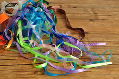 A mixture of ribbons stock photo