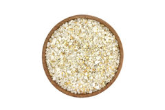 A mixture of salt and herbs in a wooden bowl Royalty Free Stock Photography