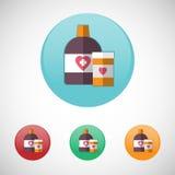 Mixture solution bottles vector icon set. Stock Photos
