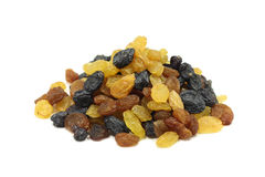 Mixture of sweet raisins Stock Images