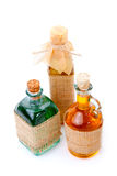 Mixture, syrup in Medicine bottles Stock Images