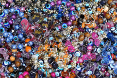 A mixture of traditional Turkish bracelets and jewelery Royalty Free Stock Images
