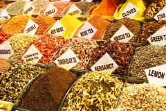 Mixtures for herb teas, Grand Bazaar of Istanbul Stock Images