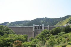 Miyagase水坝 图库摄影
