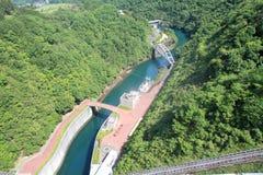Miyagase水坝 免版税图库摄影