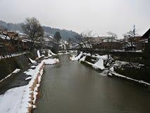 Miyagawa River, Takayama, Japan Royalty Free Stock Images