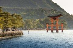 Miyajima, Famous big Shinto torii   Stock Images