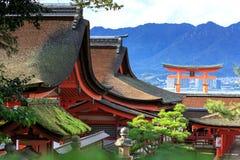 Miyajima. The famous Floating Torii gate, Japan Stock Image