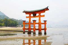 Miyajima, The famous Floating Torii gate, Japan. Royalty Free Stock Photos