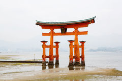 Miyajima, The famous Floating Torii gate, Japan. Royalty Free Stock Images