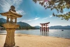 Miyajima, Floating Torii gate, high tide, Japan. Stock Images