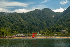 Miyajima gate at Hiroshima Stock Photography