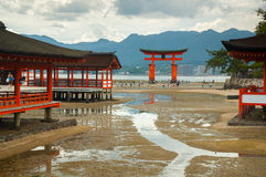 Miyajima gate at Hiroshima Stock Photo