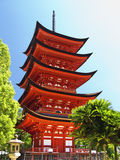 Miyajima Goju-no-to pagoda Royalty Free Stock Images